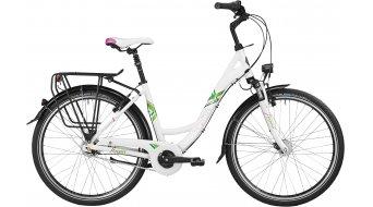 Bergamont Belami N8 26 City Komplettbike Unisex-Rad Gr. 44cm pearl white/apple green/purple Mod. 2016