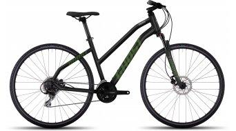 Ghost Square Cross 2 AL bici de fitness bici completa Señoras-rueda negro/riot verde/urban gray Mod. 2017