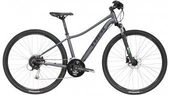 Trek Neko 3 WSD bici de fitness bici completa Señoras-rueda matte metallic charcoal Mod. 2017