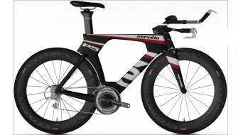 Cervélo P5 SIX Red Triathlonwheel size 48 black/weiß/red 2013