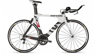 Cervélo P3 Dura Ace 2x11 Triathlon bike white/black/red 2015