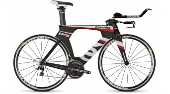 Cervélo P5 SIX DA Triathlonwheel black/white/red 2014