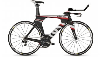 Cervélo P5 SIX DA Di2 Triathlonwheel black/white/red 2014