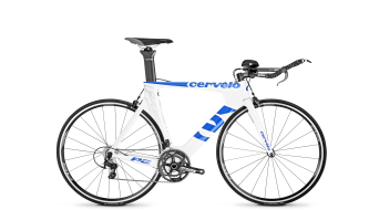 Cervélo P2 105 2x11 Triathlon bike white/blue 2015