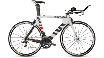 Cervélo P3 Dura Ace WTS 2x11 Triathlon bike white/black/red 2015