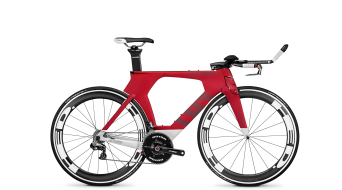 Cervélo P5 Dura Ace Di2 2x11 Triathlon bike red/white/red 2016