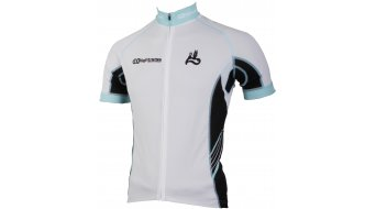 AX Lightness premium Full-Zip jersey short sleeve black/white/blue