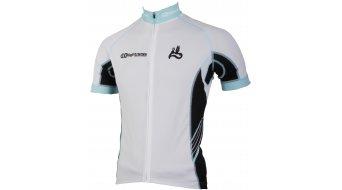 AX Lightness premium Full-Zip jersey short sleeve black/white/blue