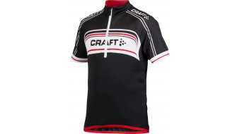 Craft Bike Logo maillot de manga corta niños-maillot tamaño 146/152 negro/blanco/bright rojo