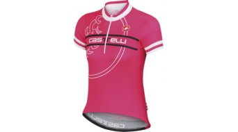 Castelli Segno maillot manches courtes enfants-maillot Jersey-Zip taille M raspberry