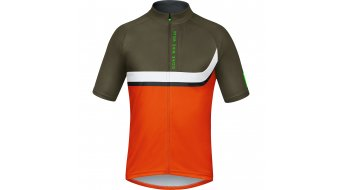GORE Bike Wear Power Trail Trikot kurzarm Herren-Trikot MTB blaze orange/ivy green