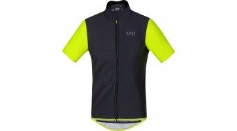 GORE Bike Wear Power Trikot kurzarm Herren-Trikot Rennrad Windstopper Soft Shell black/neon yellow