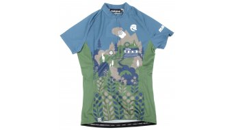 Maloja Women ElviraM. jersey short sleeve size L blue steel