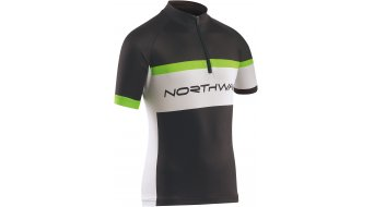 Northwave logo maillot manches courtes enfants-maillot Jersey taille 10 black/green fluo