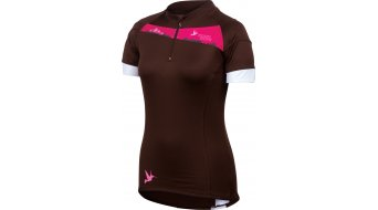 Pearl Izumi Women Launch maillot de manga corta tamaño XL coffee/blanco