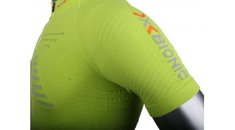 X-Bionic Effektor Power Trikot kurzarm Herren-Trikot Full Zip Gr. S green lime/pearl grey