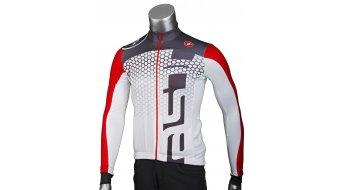 Castelli Audace Full-Zip Trikot langarm Gr. L white/anthracite/red