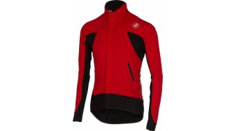 Castelli Alpha Wind Full Zip Trikot langarm Trikot red/black