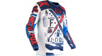 Fox 180 Vicious Trikot langarm Kinder MX-Trikot Youth Gr. 122/128 (Y-S) blue/white