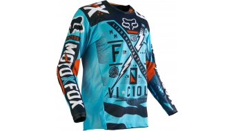 Fox 180 Vicious Trikot langarm Kinder MX-Trikot Youth Gr. 134 (Y-M) aqua