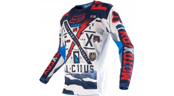 Fox 180 Vicious Trikot langarm Kinder MX-Trikot Kids Gr. K-S blue/white