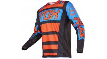Fox 180 Falcon Trikot langarm Kinder MX-Trikot Youth Gr. 152/164 (Y-XL) black/orange