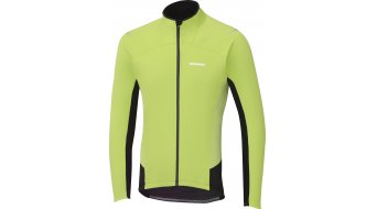 Shimano Windbreak Performance Trikot langarm Herren-Trikot electric grün/schwarz