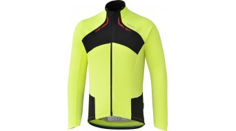 Shimano Winter Trikot langarm Herren-Trikot neon yellow