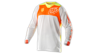Troy Lee Designs SE Pro Corse Trikot langarm Herren-Trikot MX-Trikot Gr. L white/orange Mod. 2015