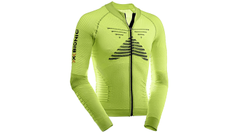 X-Bionic Effector Power Biking maillot manga larga Caballeros-maillot Full Zip verde lime/negro