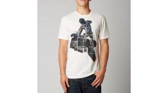 Fox Throttler T-Shirt kurzarm Herren-T-Shirt Premium Tee Gr. S vintage white  - VORFÜHRTEILVerbärbungen an der Schulter