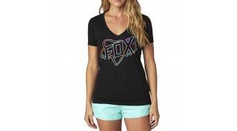Fox Configuration T-Shirt kurzarm Damen-T-Shirt V-Neck Gr. XS black