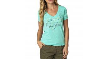 Fox Configuration T-Shirt kurzarm Damen-T-Shirt V-Neck