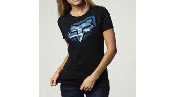 Fox Glitched camiseta de manga corta Señoras-camiseta Crew tamaño S negro