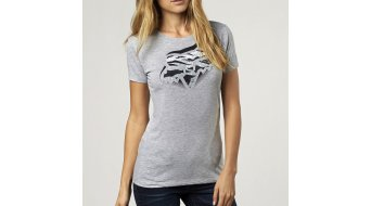 Fox Glitched camiseta de manga corta Señoras-camiseta Crew tamaño XL light heather grey