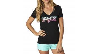Fox Vapors T-Shirt kurzarm Damen-T-Shirt V-Neck black