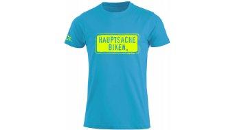 HIBIKE Hauptsache biking. camiseta de manga corta Caballeros-camiseta tamaño S türkis/color neón
