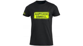 HIBIKE Hauptsache Downhill. T-Shirt kurzarm Herren-T-Shirt Gr. S schwarz/neon