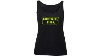 HIBIKE Hauptsache Biken. T-Shirt 无袖 女士 Tank-Top 型号 黑色/neon 黄色