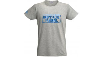 "HIBIKE ""Hauptsache Fahrrad."" T-shirt short sleeve grey (Hakro Tailored 295)"
