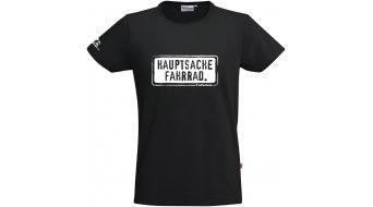 "HIBIKE ""Hauptsache Fahrrad."" T-shirt short sleeve black (Hakro Tailored 295)"