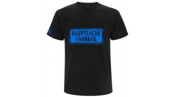 "HIBIKE ""Hauptsache Fahrrad."" T-shirt short sleeve black/blue (Hakro Tailored"