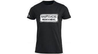 HIBIKE Hauptsache Mountainbike. póló rövid ujjú férfi-póló fekete/fehér