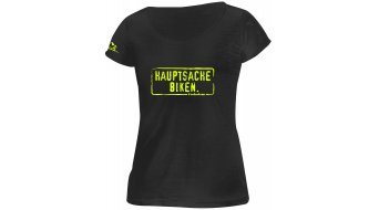 HIBIKE Hauptsache Biken. T-shirt short sleeve ladies-T-shirt black/neon