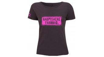 "HIBIKE ""Hauptsache Fahrrad."" T-shirt ladies-T-shirt short sleeve ash black (Continental N09)"