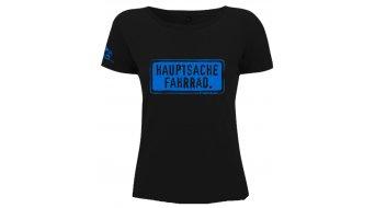 "HIBIKE ""Hauptsache Fahrrad."" T-shirt ladies-T-shirt short sleeve black (Continental N09)"