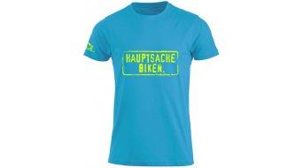 HIBIKE Hauptsache Biken. póló rövid ujjú gyermek-póló türkisz/neon