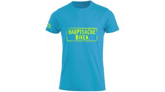 HIBIKE  Hauptsache Biken. t-shirt manica corta bambini- t-shirt mis. 92/98 (90/100) turchese/neon