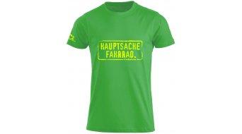 HIBIKE  Hauptsache bici . t-shirt manica corta bambini- t-shirt . verde/neon