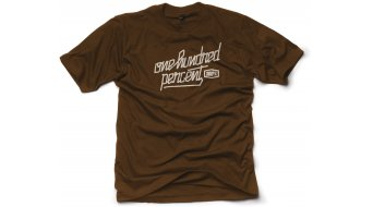 100% Mask T-Shirt kurzarm chocolate